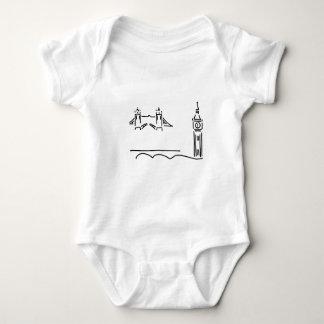 London more tower bridge big ben baby bodysuit