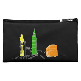 London Neon Pop Art Stylish Cool Sketch Modern Cosmetic Bag