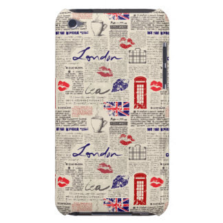 London Newspaper Pattern Barely There iPod Cover