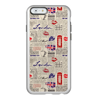 London Newspaper Pattern Incipio Feather® Shine iPhone 6 Case