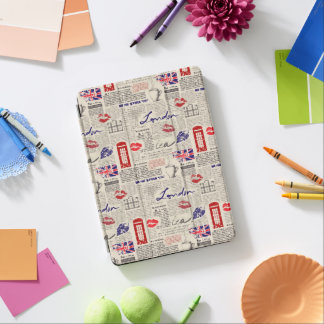 London Newspaper Pattern iPad Air Cover