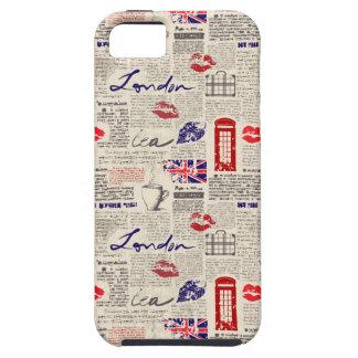 London Newspaper Pattern iPhone 5 Case