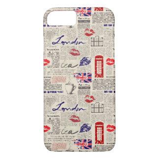 London Newspaper Pattern iPhone 8/7 Case