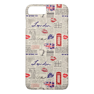 London Newspaper Pattern iPhone 8 Plus/7 Plus Case