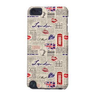 London Newspaper Pattern iPod Touch 5G Case