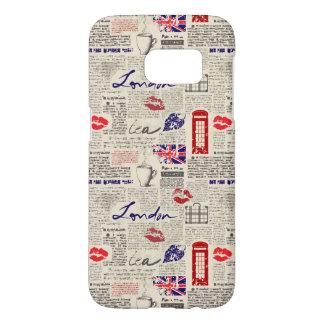 London Newspaper Pattern Samsung Galaxy S7 Case