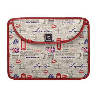 London Newspaper Pattern Sleeve For MacBook Pro