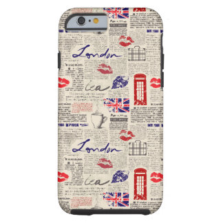 London Newspaper Pattern Tough iPhone 6 Case