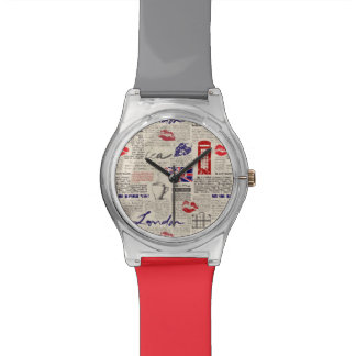 London Newspaper Pattern Watch