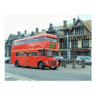 London,  old Routemaster doubledecker bus Postcard