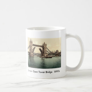 London  Open Tower Bridge  1890's Coffee Mug