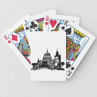 London painting bicycle playing cards