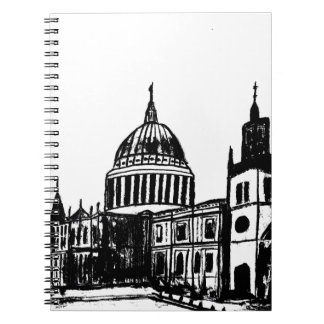 London painting spiral notebook