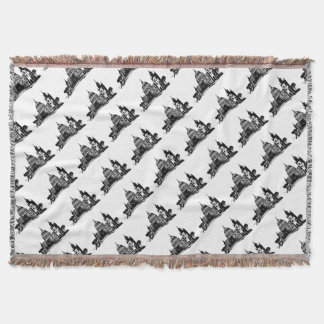 London painting throw blanket