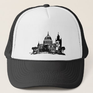 London painting trucker hat