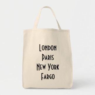 London Paris New York Fargo Tote Bag