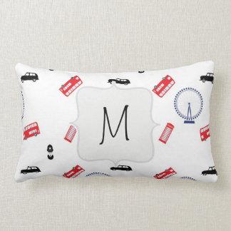 London Pattern Lumbar Pillow