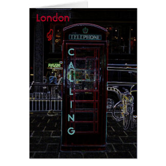 London Phone Booth Notecard