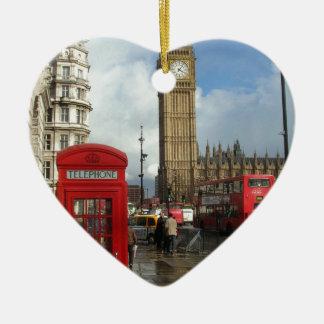 London Phone box & Big Ben (St.K) Ceramic Ornament