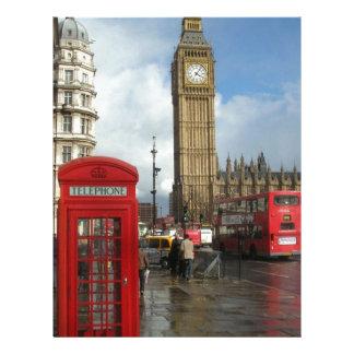 London Phone box & Big Ben (St.K) Customized Letterhead
