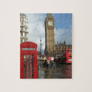 London Phone box & Big Ben (St.K) Jigsaw Puzzle
