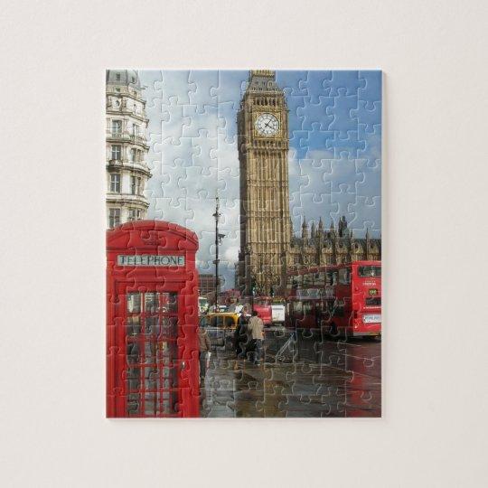 London Phone box & Big Ben (St.K) Jigsaw Puzzle