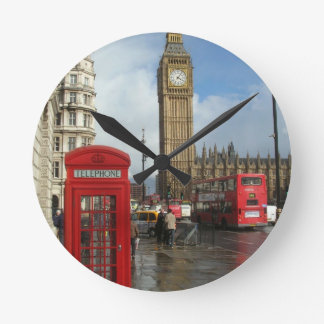 London Phone box & Big Ben (St.K) Round Clock