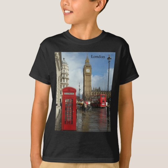 London Phone box & Big Ben (St.K) T-Shirt