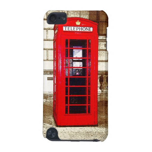 London Phone Box (poster edge effect) iPod Touch (5th Generation) Cases