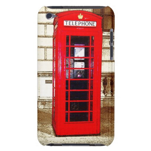 London Phone Box (poster edge effect) Barely There iPod Case