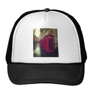 London phone boxes trucker hat