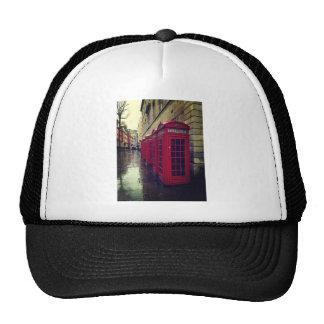 London phone boxes trucker hat
