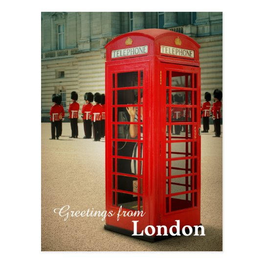 London Phone Cabin Postcard