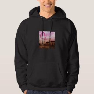 london,pink hoodie