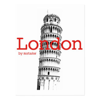 London & Pisa mstake Postcard