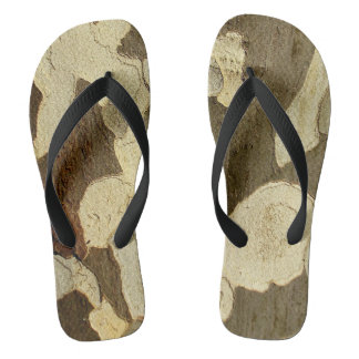 London Plane Tree Bark Flip Flops