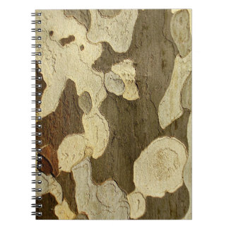 London Plane Tree Bark Photo Notebook