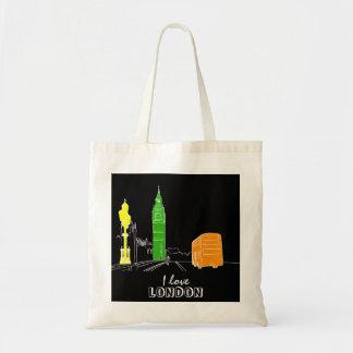 London Pop Art Neon Colors Vibrant Cool Modern Tote Bag