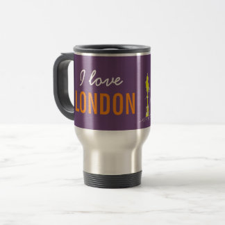 London Pop Art Neon Colors Vibrant Cool Modern Travel Mug