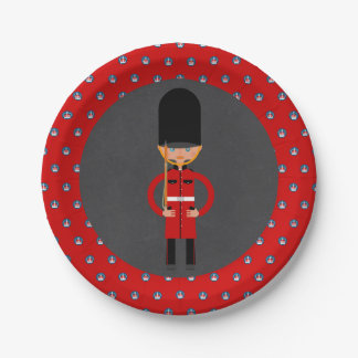 London Queen  Guard Style Kids Birthday Party Paper Plate
