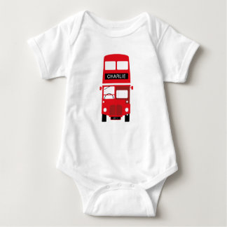 London Red Bus Personalised Baby Toddler Bodysuit