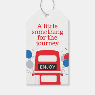 London Red Bus Personalised Party Gift Tags