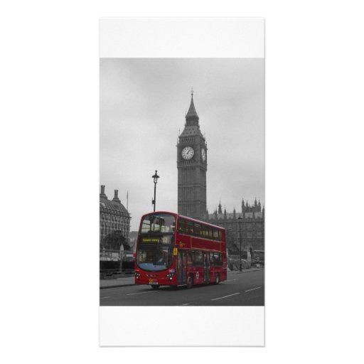 London Red bus Photo Greeting Card