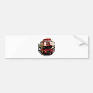 London Red Bus Routemaster Buses Bumper Sticker