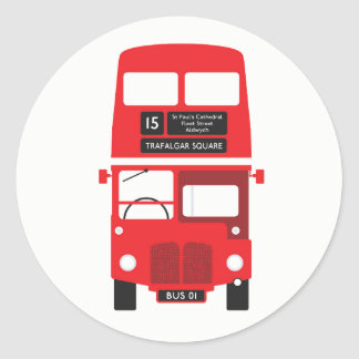 London Red Bus Stickers
