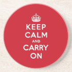 London Red Keep Calm and Carry On Coaster