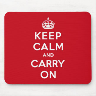 London Red Keep Calm and Carry On Mouse Pad