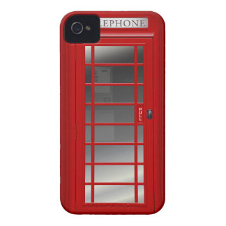 London Red Phone Booth iPhone 4 Cover