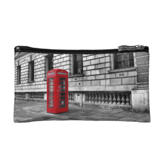 London Red Phone Box - Cosmetics Bag Cosmetic Bags