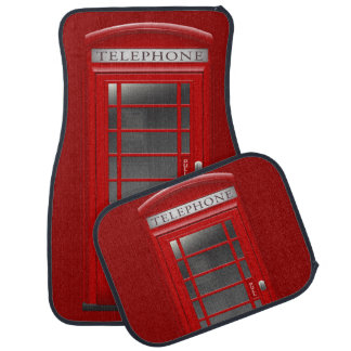 London Red Phone CallBox Car Mats Floor Mat